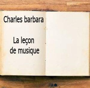 ebook de Charles barbara - La leçon de musique