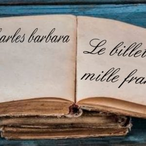 ebook de Charles barbara - Le billet de mille francs
