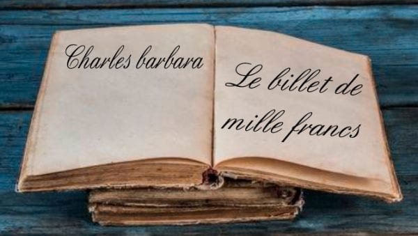 ebook de Charles barbara - Le billet de mille francs