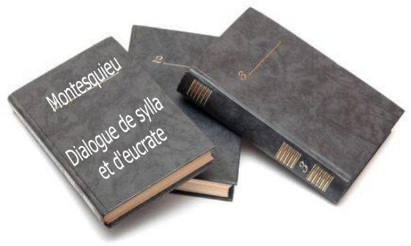 ebook de Montesquieu - Dialogue de sylla et d'eucrate