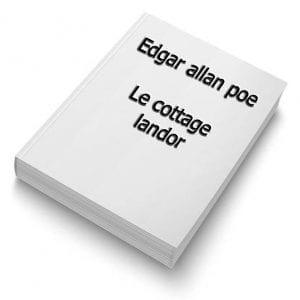 ebook de Edgar allan poe - Le cottage landor