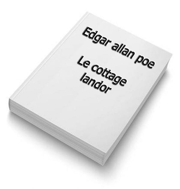 ebook de Edgar allan poe - Le cottage landor