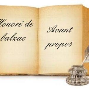 ebook de Honoré de balzac - avant propos