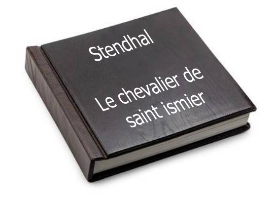 ebook de Stendhal - Le chevalier de saint ismier