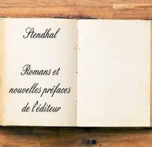 ebook de Stendhal - Romans et nouvelles préfaces de l'éditeur